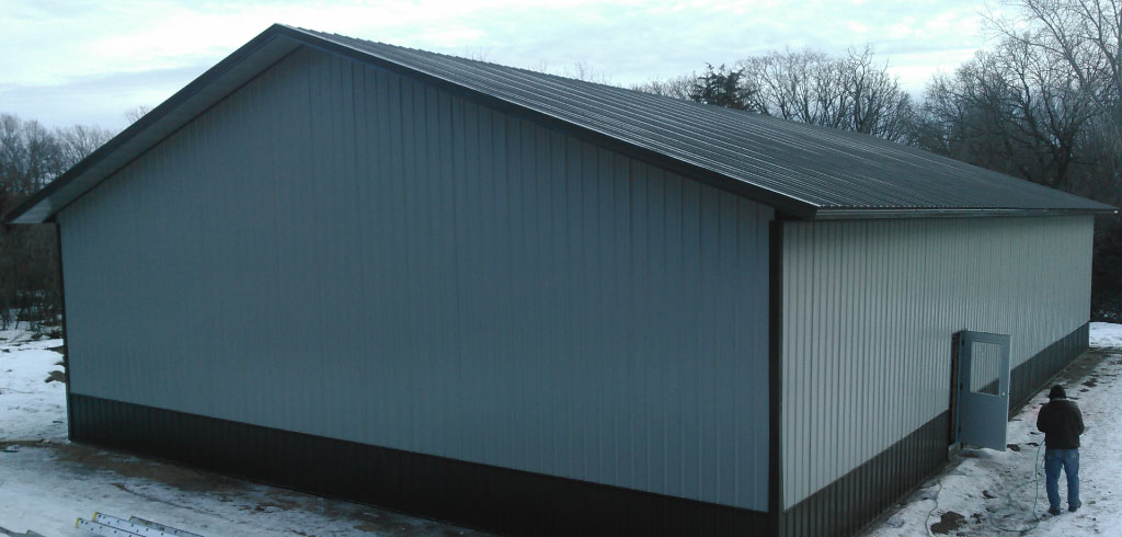 Hudson WI Pole Barn Building Completed