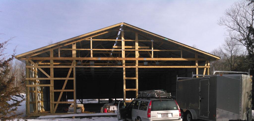 Hudson WI Pole Barn Framing